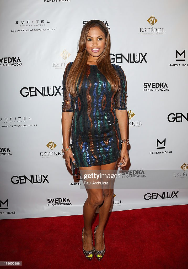 Actress / Model K.D. Aubert attends the Genlux Magazine release party at Sofitel Hotel on August 29, 2013 in Los Angeles, California.