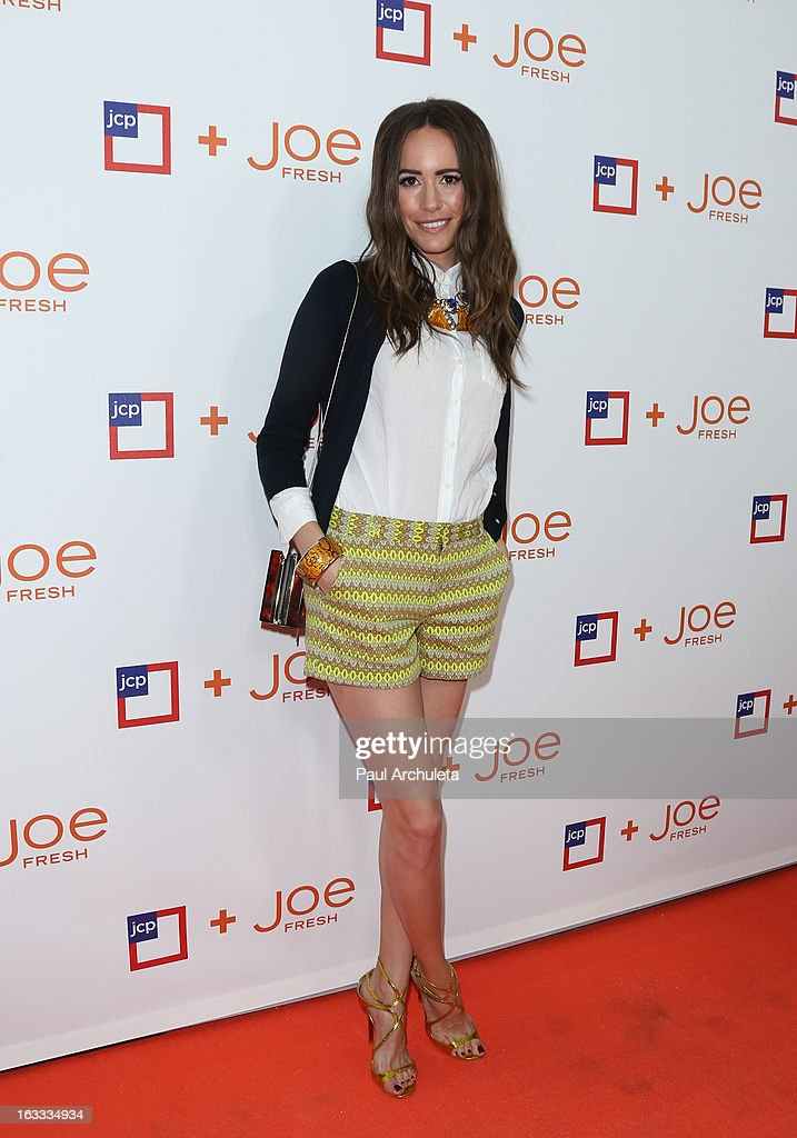 Actress / Model Louise Roe attends the JCPenney 'Joe Fresh' launch party at the Joe Fresh at jcp Pop Up store on March 7, 2013 in Los Angeles, California.
