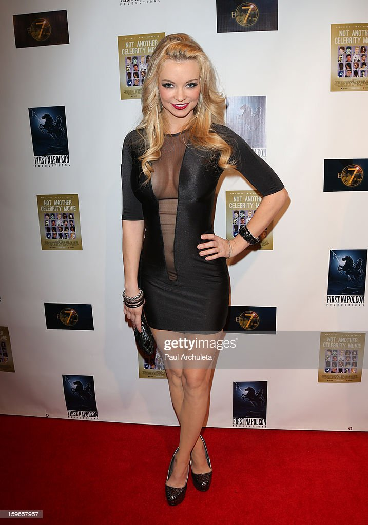 Actress / Model Mindy Robinson attends the premiere for 'Not Another Celebrity Movie' at Pacific Design Center on January 17, 2013 in West Hollywood, California.