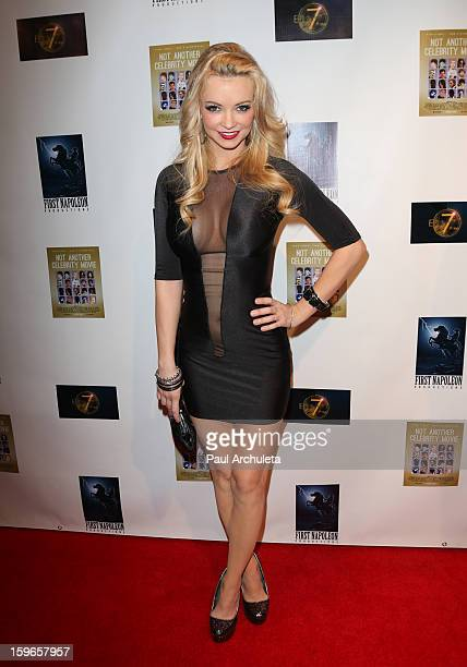 Actress / Model Mindy Robinson attends the premiere for 'Not Another Celebrity Movie' at Pacific Design Center on January 17 2013 in West Hollywood...