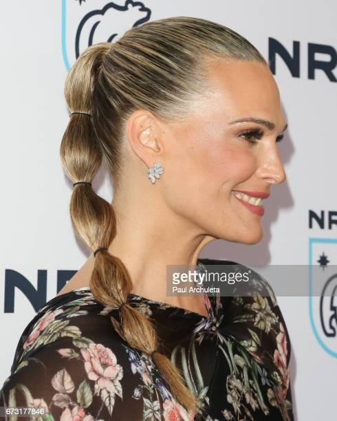 Actress / Model Molly Sims Hair Detail attends the Natural Resources Defense Council's STAND UP for the Planet benefit at Wallis Annenberg Center for...