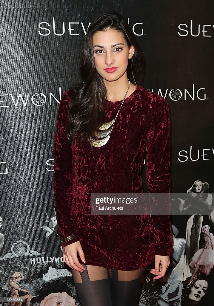 Actress / Model Olga Safari attends Sue Wong's holiday party on December 20, 2013 in Los Angeles, California.