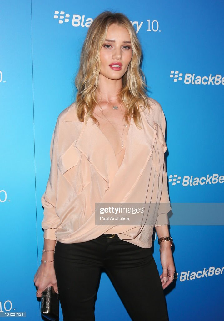 Actress / Model Rosie Huntington Whiteley attends the BlackBerry Z10 Smartphone launch party at Cecconi's Restaurant on March 20, 2013 in Los Angeles, California.