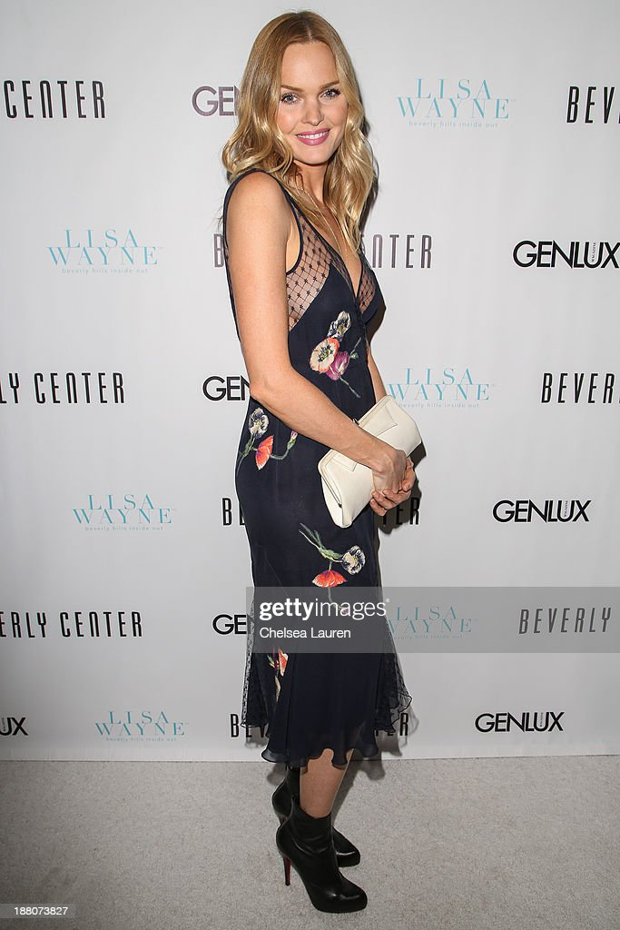 Actress / model Sunny Mabrey arrives at the Genlux new issue launch party hosted by Lisa Vanderpump on November 14, 2013 in Beverly Hills, California.