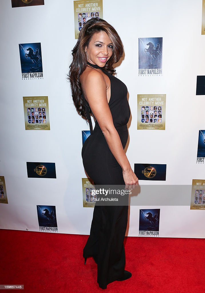 Actress / Model Vida Guerra attends the premiere for 'Not Another Celebrity Movie' at Pacific Design Center on January 17, 2013 in West Hollywood, California.