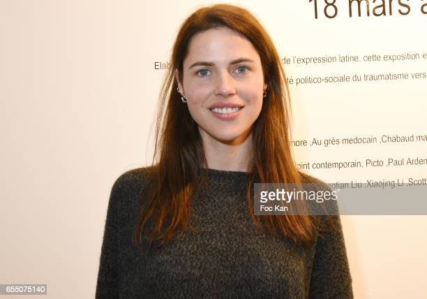 Actress /model Zoe Duchesne attends 'Faccia A Faccia' Sarah Trouche performance exhibition at Galerie Vanessa Quang on March 18 2017 in Paris France
