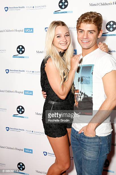 Actress Mollee Gray and actor Garrett Clayton arrive at the Lights Camera Cure's 5th Annual Hollywood Dance Marathon Benefiting Mattel Children's...