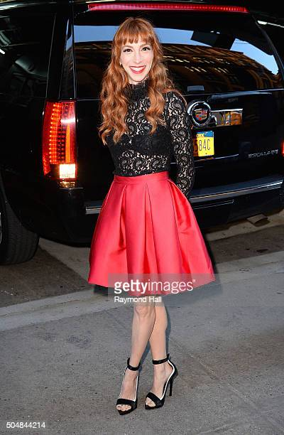 Actress Molly Bernard is seen outside 'Huff Post Live' on on January 13 2016 in New York City