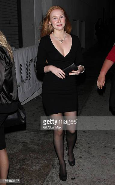 Actress Molly C Quinn as seen on August 12 2013 in Los Angeles California