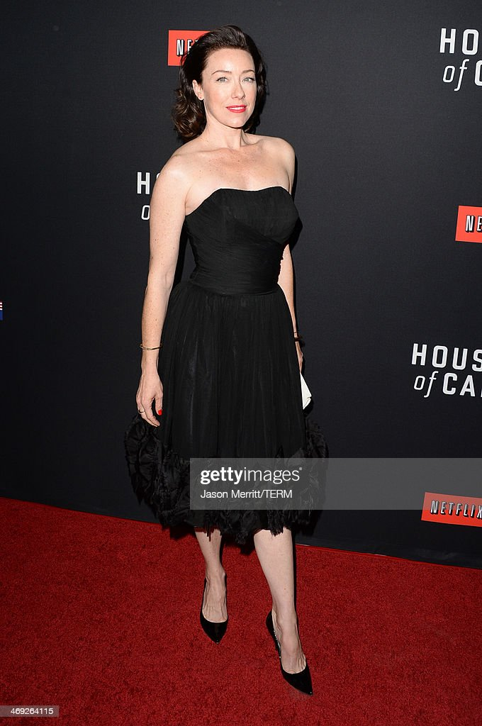 Actress Molly Parker arrives at the special screening of Netflix's 'House of Cards' Season 2 at the Directors Guild of America on February 13, 2014 in Los Angeles, California.