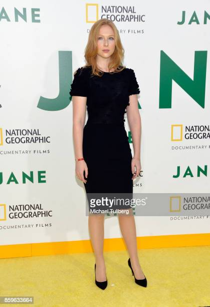 Actress Molly Quinn arrives at the premiere of National Geographic Documentary Films' 'Jane' at the Hollywood Bowl on October 9 2017 in Hollywood...