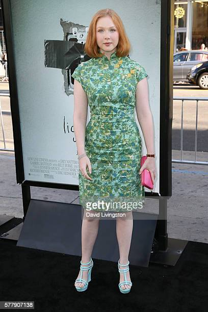 Actress Molly Quinn arrives at the premiere of New Line Cinema's 'Lights Out' at the TCL Chinese Theatre on July 19 2016 in Hollywood California