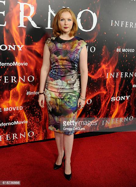 Actress Molly Quinn arrives at the screening of Sony Pictures Releasing's 'Inferno' at DGA Theater on October 25 2016 in Los Angeles California