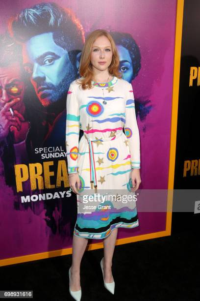 Actress Molly Quinn attends AMC's 'Preacher' Season 2 Premiere at the Theater at the Ace Hotel on June 20 2017 in Los Angeles California