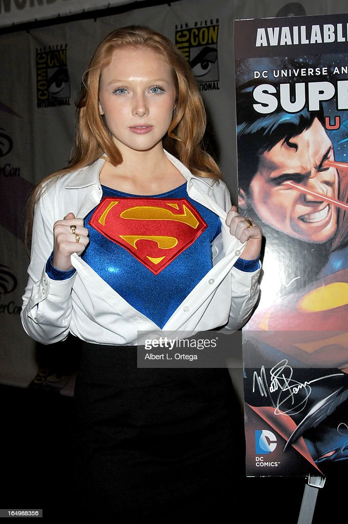 Actress Molly Quinn participates in the 'Superman: Unbound' panel at WonderCon Anaheim 2013 - Day 1 at Anaheim Convention Center on March 29, 2013 in Anaheim, California.