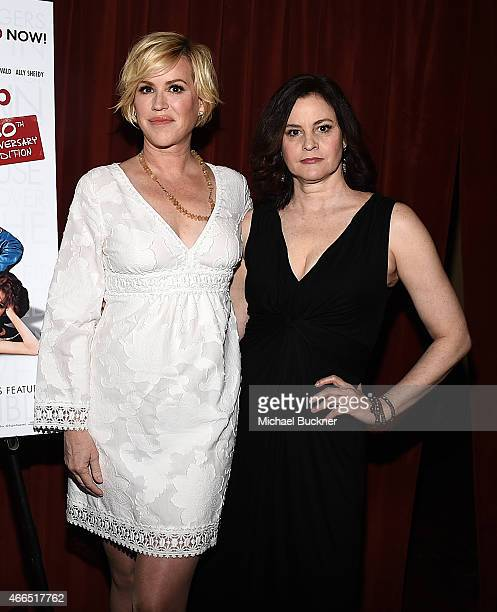 Actress Molly Ringwald and actress Ally Sheedy attend 'The Breakfast Club' 30th Anniversary Restoration world premiere during the 2015 SXSW Music...