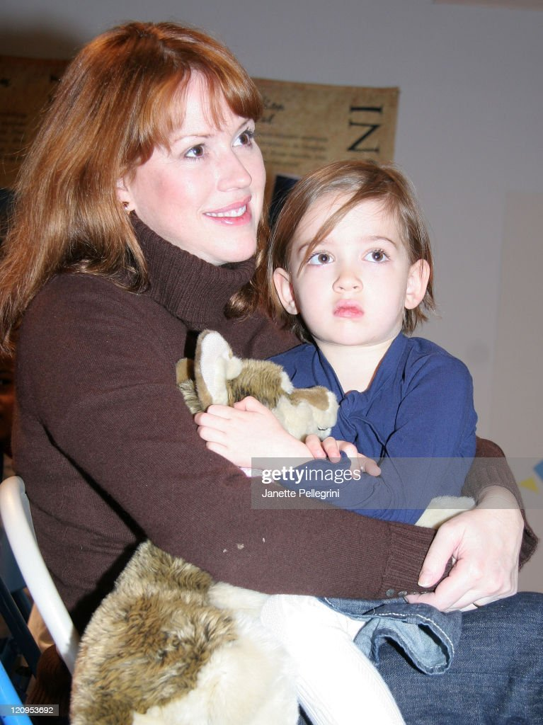 Actress <a gi-track='captionPersonalityLinkClicked' href=/galleries/search?phrase=Molly+Ringwald&family=editorial&specificpeople=206508 ng-click='$event.stopPropagation()'>Molly Ringwald</a> and daughter Mathilda attend the 'Traveling Bears' Books Series Debut at The Children's Museum of Manhattan on November 29, 2007 in New York City.