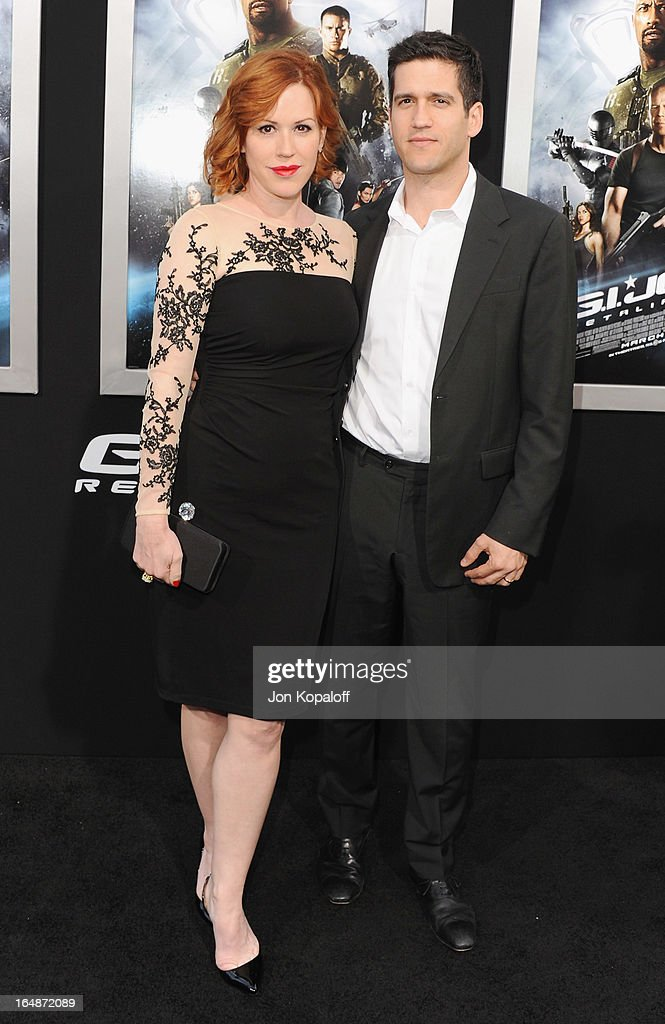 Actress Molly Ringwald and husband writer Panio Gianopoulos arrive at the Los Angeles Premiere 'G.I. Joe: Retaliation' at TCL Chinese Theatre on March 28, 2013 in Hollywood, California.