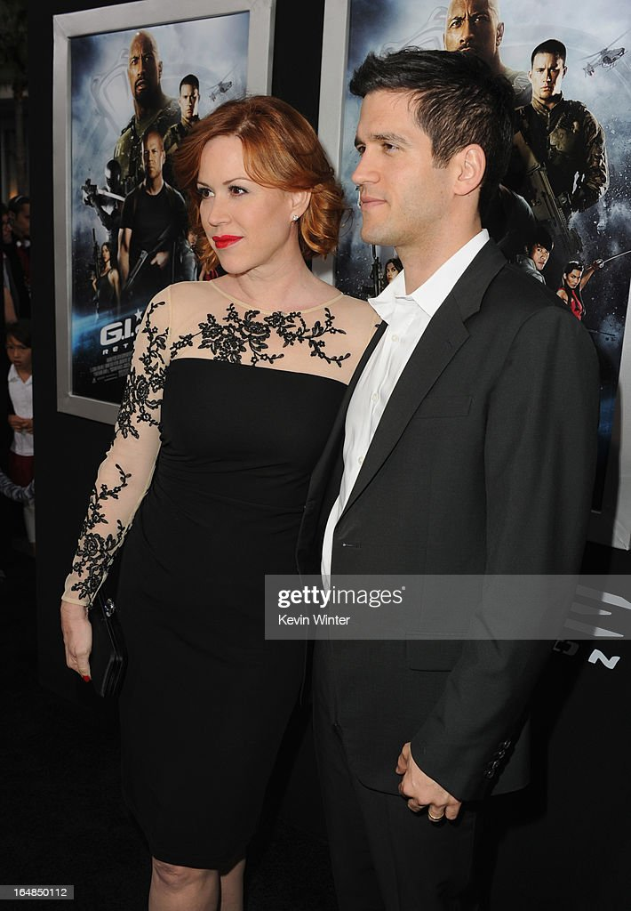 Actress Molly Ringwald and husband/actor Panio Gianopoulos attend the premiere of Paramount Pictures' 'G.I. Joe:Retaliation' at TCL Chinese Theatre on March 28, 2013 in Hollywood, California.