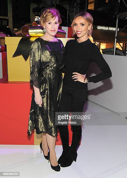 Actress Molly Ringwald and TV host Giuliana Rancic attend the Beverly Hills Holiday Lighting Ceremony on Rodeo Drive on November 22 2015 in Beverly...
