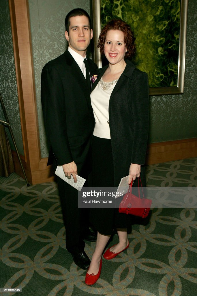 Actress Molly Ringwald and writer Panio Gianopoulos pose for a photo as they attend the Signature Theatre Company's Annual Gala honoring playwright Paula Vogel at The Ritz-Carlton hotel April 4, 2005 in New York City.