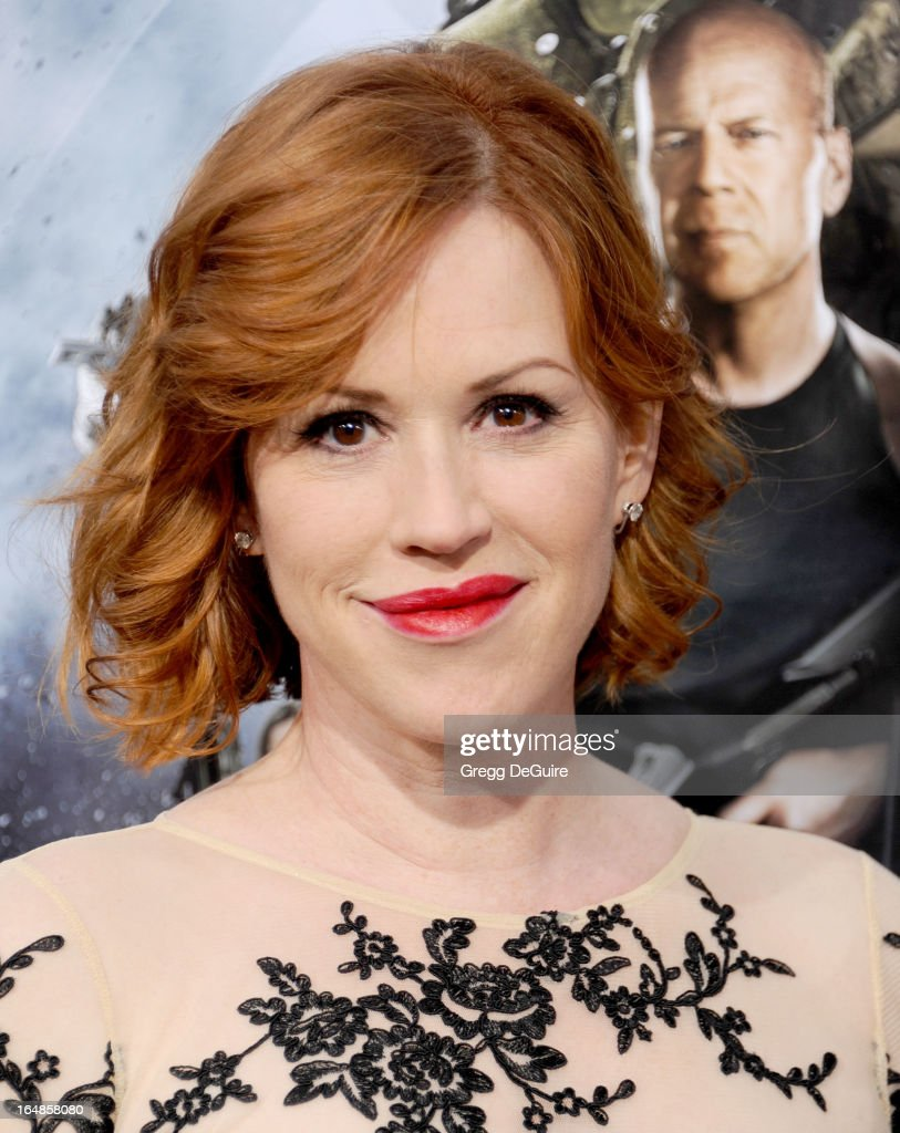 Actress Molly Ringwald arrives at the 'G.I. Joe: Retaliation' Los Angeles premiere at TCL Chinese Theatre on March 28, 2013 in Hollywood, California.