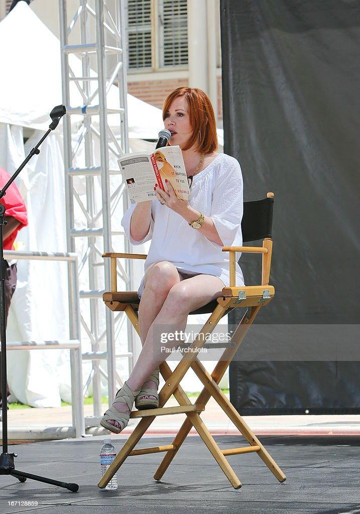 Actress Molly Ringwald attends the 18th annual Los Angeles Times Festival Of Books - Day 1 at USC on April 20, 2013 in Los Angeles, California.
