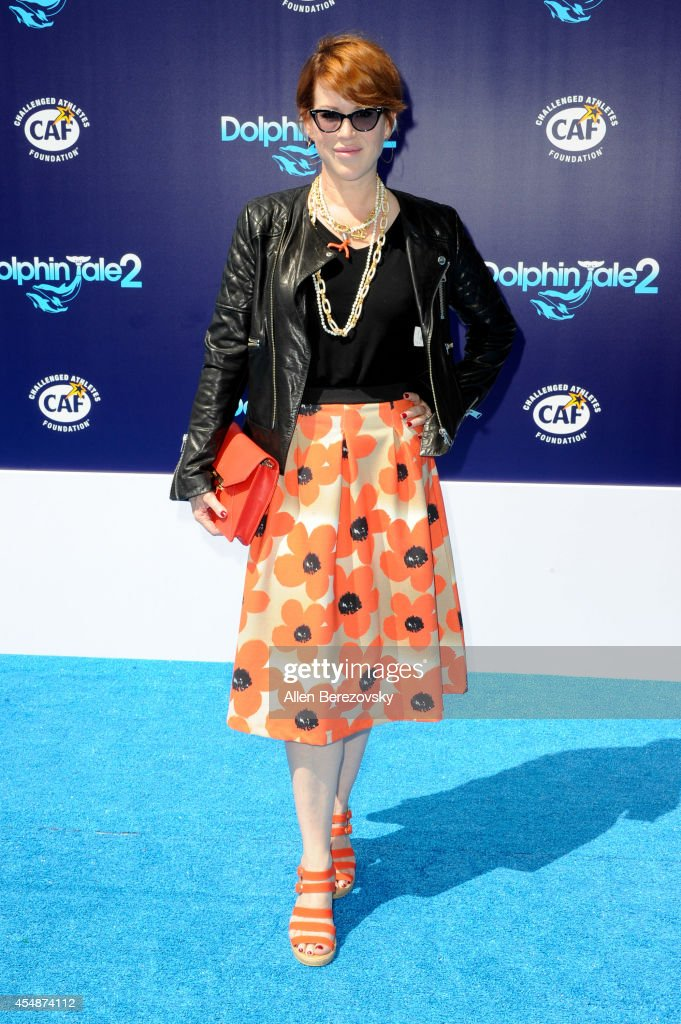 Actress Molly Ringwald attends the Los Angeles Premiere of 'Dolphin Tale 2' at Regency Village Theatre on September 7, 2014 in Westwood, California.