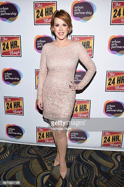 Actress Molly Ringwald attends Urban Arts Partnership at the 15th annual The 24 Hour Plays On Broadway after party at BB King on November 16 2015 in...