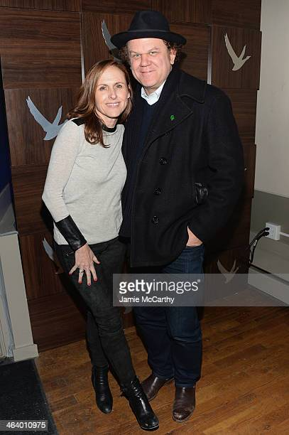 Actress Molly Shannon and actor John C Reilly attend the GREY GOOSE Blue Door Hosts 'Life After Beth' Party on January 19 2014 in Park City Utah