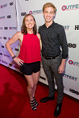 Actress Molly Shannon and Actor Tim Boardman arrive at the 2016 Outfest Los Angeles Closing Night Gala Of 'Other People' at The Theatre at Ace Hotel...