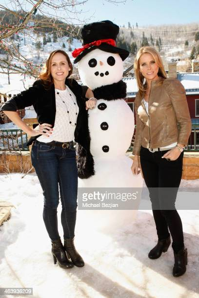 Actress Molly Shannon and Cheryl Hines attend Sabra At The Village At The Lift on January 19 2014 in Park City Utah