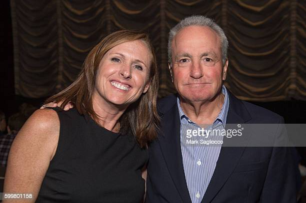 Actress Molly Shannon and TV Producer Lorne Michaels attend the 'Other People' New York Screening at Dolby 88 Theater on September 6 2016 in New York...