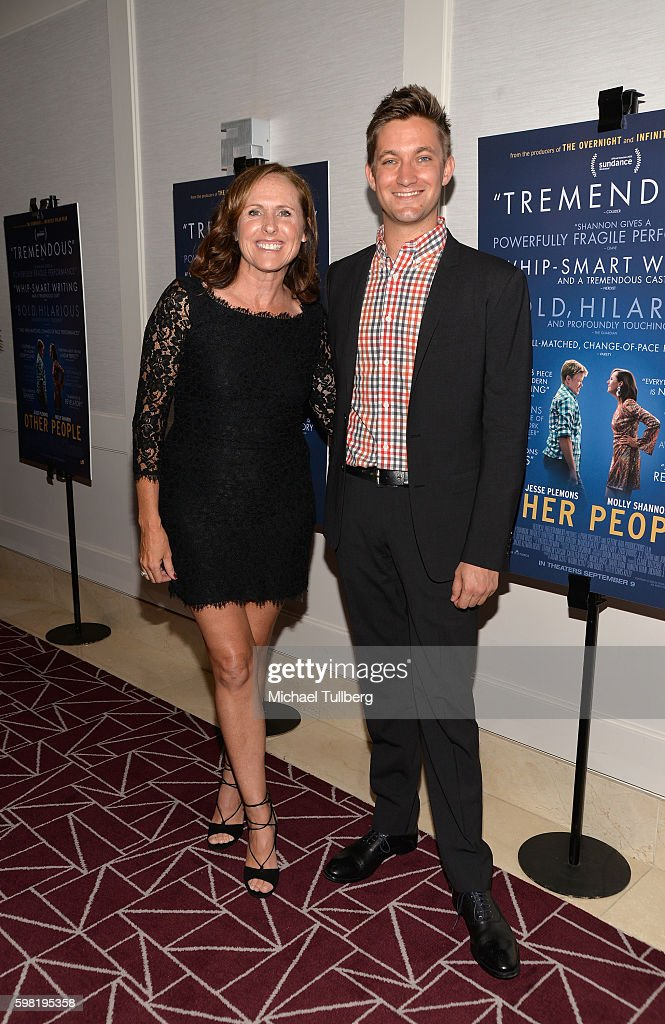 Actress Molly Shannon and writer/director Chris Kelly attend the premiere of Vertical Entertainment's 'Other People' at The London West Hollywood on August 31, 2016 in West Hollywood, California.