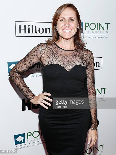 Actress Molly Shannon arrives at Point Foundation's Point Honors gala at The Beverly Hilton Hotel on October 1 2016 in Beverly Hills California