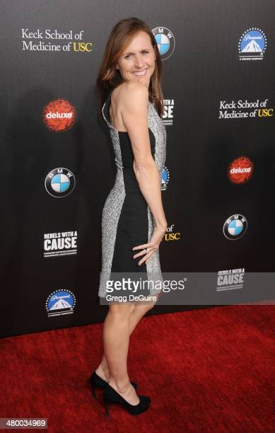 Actress Molly Shannon arrives at the 2nd Annual Rebel With A Cause Gala at Paramount Studios on March 20 2014 in Hollywood California