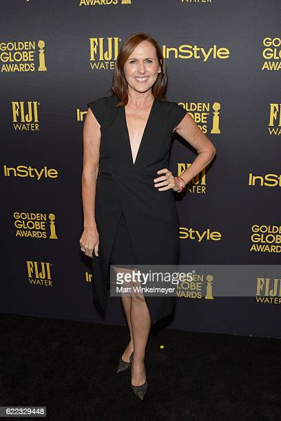 Actress Molly Shannon arrives at the Hollywood Foreign Press Association and InStyle celebrate the 2017 Golden Globe Award Season at Catch LA on...