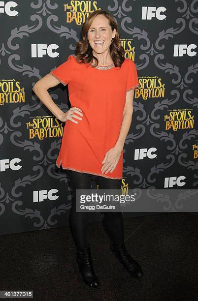 Actress Molly Shannon arrives at the Los Angeles premiere of 'The Spoils Of Babylon' at DGA Theater on January 7 2014 in Los Angeles California