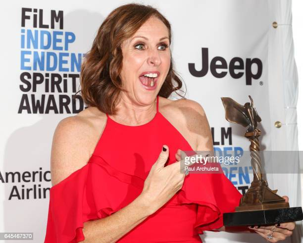 Actress Molly Shannon attends the 2017 Film Independent Spirit Awards press room on February 25 2017 in Santa Monica California