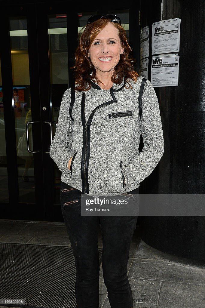 Actress Molly Shannon leaves the 'Good Day New York' taping at the Fox 5 Studio on April 11, 2013 in New York City.