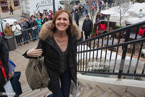 Actress Molly Shannon walks in Park City during the Sundance Film Festival on January 24 2015 in Park City Utah