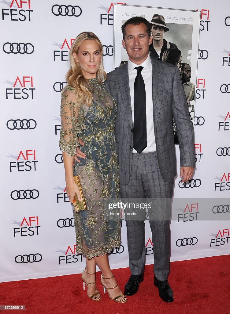 Actress Molly Sims and husband Scott Stuber attend the 2017 AFI Fest opening night gala screening of 'Mudbound' at TCL Chinese Theatre on November 9, 2017 in Hollywood, California.