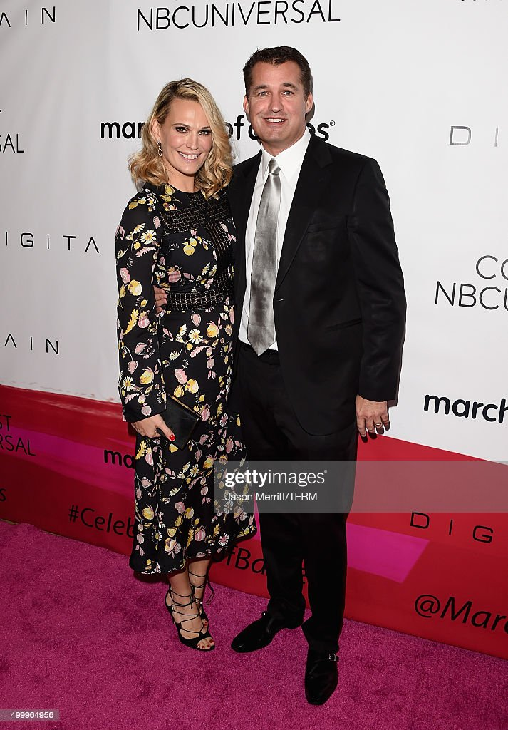 Actress Molly Sims and producer Scott Stuber attend the 2015 March Of Dimes Celebration Of Babies at the Beverly Wilshire Four Seasons Hotel on...