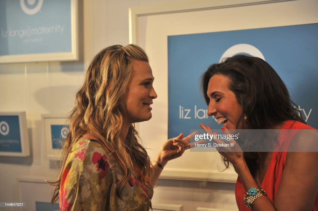 Actress Molly Sims (L) and Target maternity wear designer Liz Lange attend Liz Lange for Target 10th Anniversary Party at The Glasshouses on May 16, 2012 in New York City.
