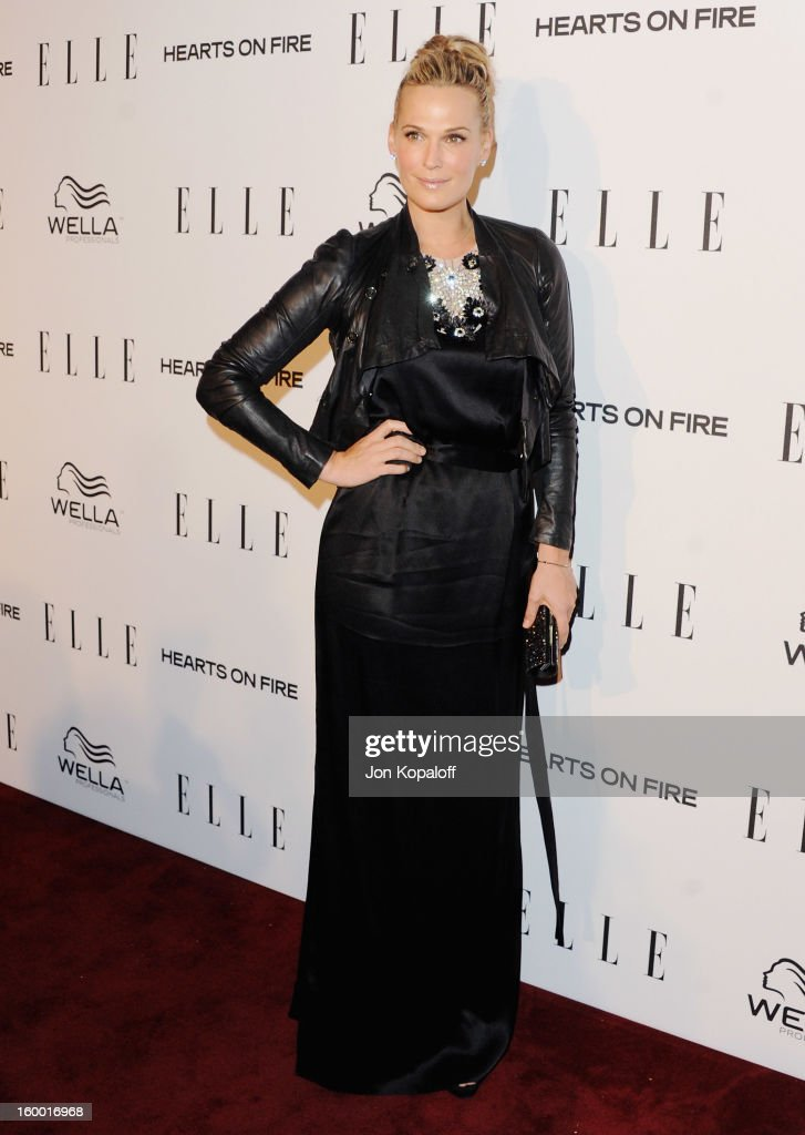 Actress Molly Sims arrives at ELLE's 2nd Annual Women In TV Event at Soho House on January 24, 2013 in West Hollywood, California.