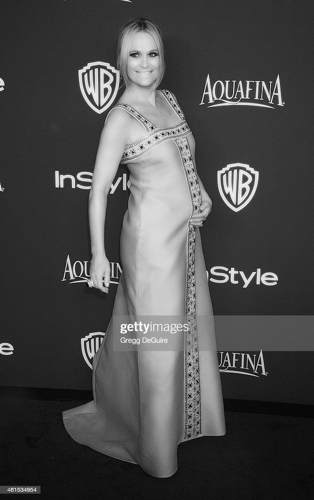 Actress Molly Sims arrives at the 16th Annual Warner Bros And InStyle PostGolden Globe Party at The Beverly Hilton Hotel on January 11 2015 in...