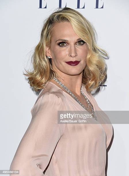 Actress Molly Sims arrives at the 22nd Annual ELLE Women In Hollywood Awards at Four Seasons Hotel Los Angeles at Beverly Hills on October 19 2015 in...
