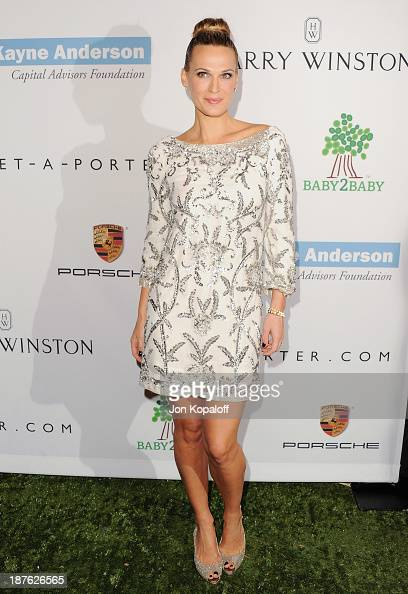 Actress Molly Sims arrives at the 2nd Annual Baby2Baby Gala at The Book Bindery on November 9 2013 in Culver City California
