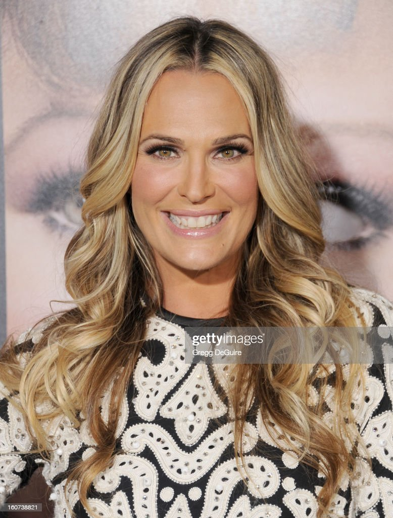 Actress Molly Sims arrives at the 'Identity Thief' Los Angeles premiere at Mann Village Theatre on February 4, 2013 in Westwood, California.