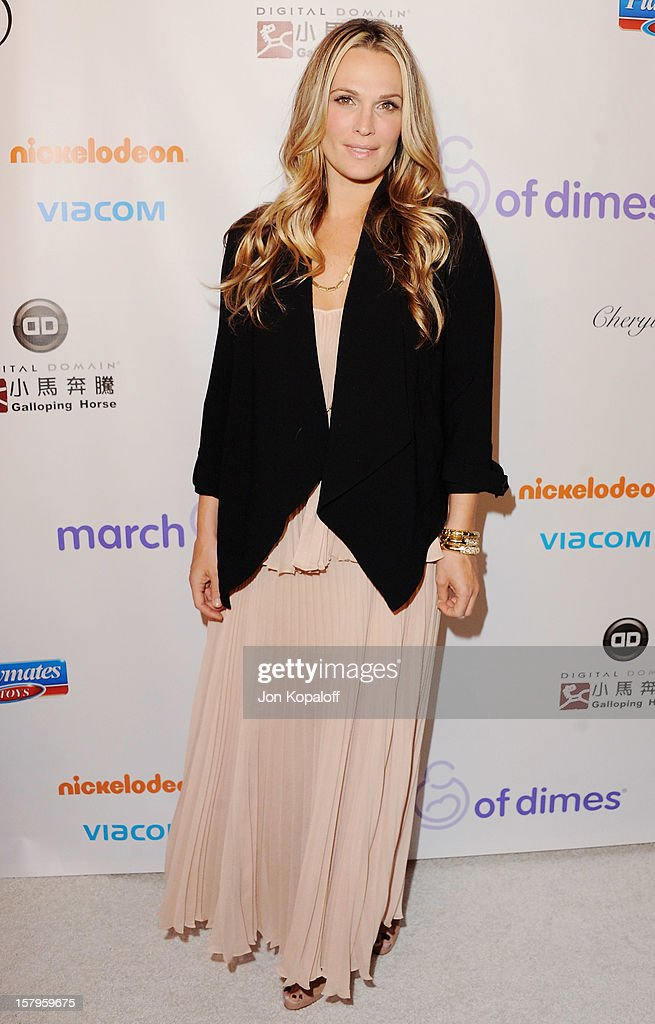 Actress Molly Sims arrives at the March Of Dimes Celebration Of Babies Luncheon at Beverly Hills Hotel on December 7, 2012 in Beverly Hills, California.